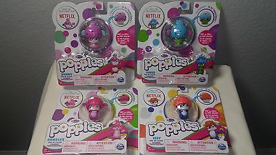 Popples Netflix Lot Of 4 Pop Up Figures Sunny, Bubbles, Yikes ,Izzy Figurines
