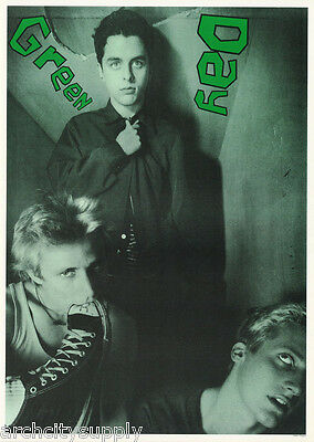 Lot Of 2 Posters:music: Green Day - Group Posed - Green Tint -  Free Ship Lc17 F