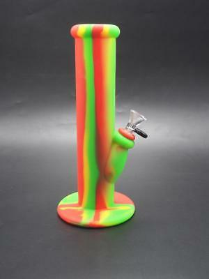 NEW! Unbreakable Silicone Bong Tall Portable Hookah - Bob Marley Rast Color