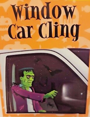 Car Window Cling Decal Frankenstein BACKSEAT DRIVER Halloween Prop Decoration