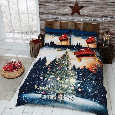 Father Christmas Tree Quilt Cover Boys Girls / 3D Bedding Set ~ FREE P&P !!