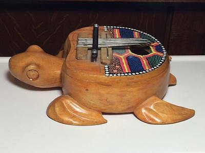 Vintage Turtle shaped kalimba from Costa Rica musical instrument