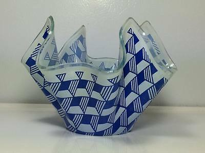 Chance glass hankerchief candy dish