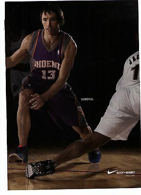 """2007 Nike Steve Nash """"Zoom BB""""  """"Quick is Deadly"""" Basketball  Shoe Print Ad"""