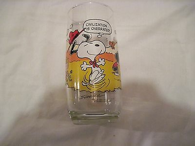 SNOOPY / PEANUTS SNOOPY McDONALS GLASS