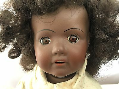 Reproduction JDK Bisque Soft Body Black Toddler Doll