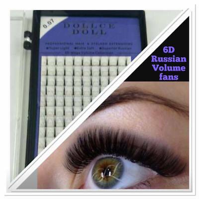 Dollce Doll Premade Russian Volume Lash Fans 6D Semi Permanent Eyelash Extension