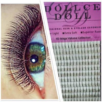 Dollce Doll Premade Russian Volume Lash Fans 4D Semi Permanent Eyelash Extension
