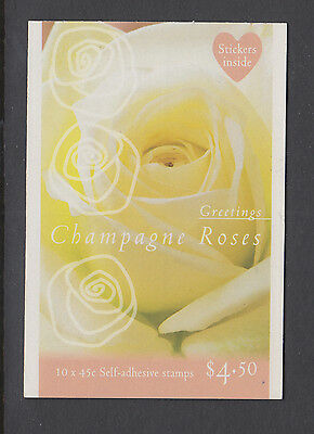 Australia 1998 Champagne Roses Booklet MNH, Free Postage!