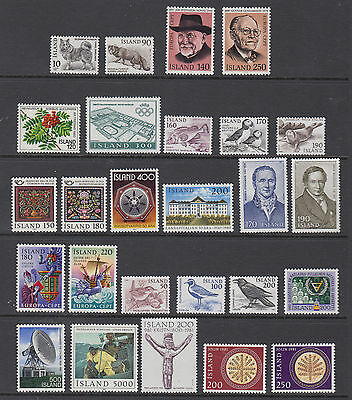 Iceland Complete 1980 - 1981 Mint Never Hinged
