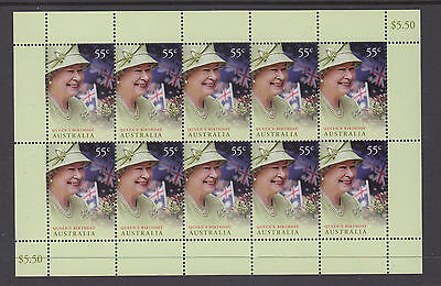 Australia 2010 Queens Birthday Sheetlet MNH, Free Postage!