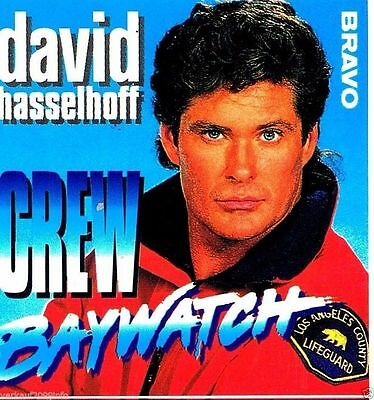 David Hasselhoff // Bravo Star Pass // (BACKSTAGE) // Sticker