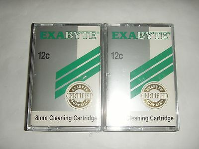 2 x EXABYTE 8MM CLEANING TAPE CARTRIDGES - BRAND NEW