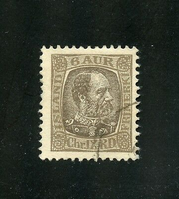 Iceland Used Stamp #37 (Perf. 13)