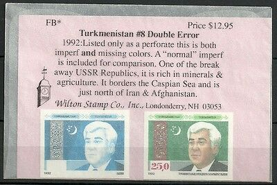 Turkamenstan lot # 5 - Nice  Imp double Error pair