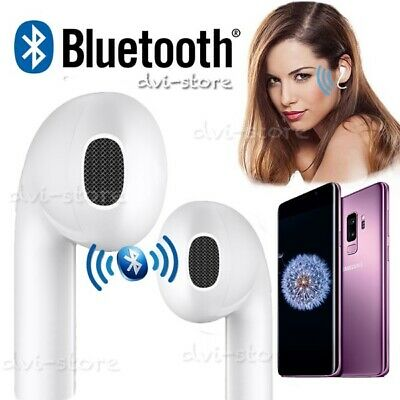 AURICOLARI BLUETOOTH CUFFIA WIRELESS MICROFONO per SAMSUNG HUAWEI IPHONE AUTO