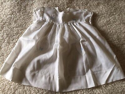 Vintage Baby Girls Dress, Size Up To 12 Month, White/cream