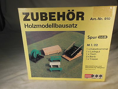910 HMB LGB Pallet, bench, stairs, spool Zubehor G Scale