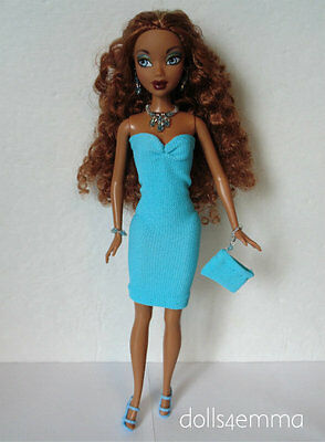 MY SCENE BARBIE CLOTHES Sexy Dress, Purse & Jewelry Handmade Fashion NO DOLL d4e