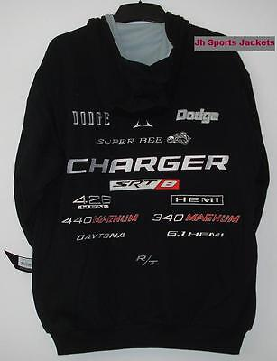 SIZE M Authentic  DODGE CHARGER  ADULT HOODIE COTTON TWILL JH Design NEW  Med