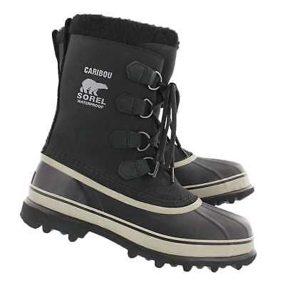 New Men's Sorel Caribou  Black / Tusk Cold Weather Winter Boots  *NIB*