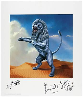 Rolling Stones Bridges to Babylon Litho signed Richards Wood Watts Epperson Cert