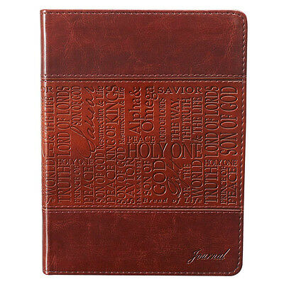 Names of Jesus  Brown LuxLeather Journal by Christian Art Gifts