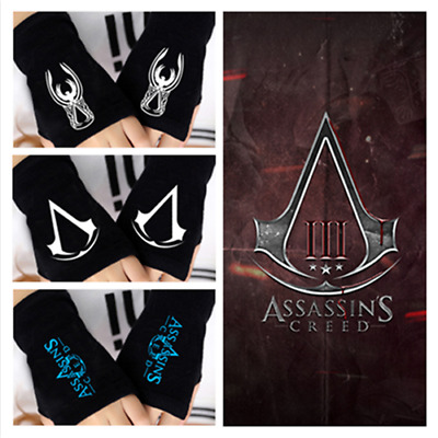 Popular games Assassin's Creed Cosplay Knitted Fingerless Gloves