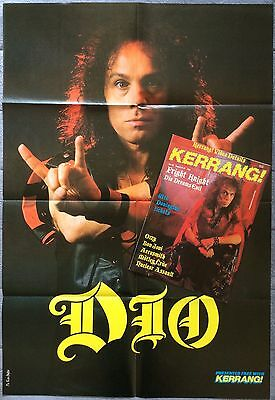 Dio Dream Evil KERRANG! magazine with fold-out poster '87