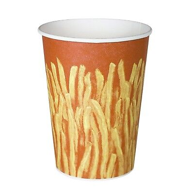 SOLO GRS32-00021 Claycoat Paper French Fry Cup 32 oz. Capacity Great Fries Pr...