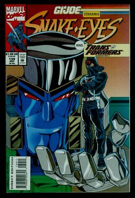Marvel Comics G.I. JOE #139 Snake Eyes And Transformers NM+ 9.6