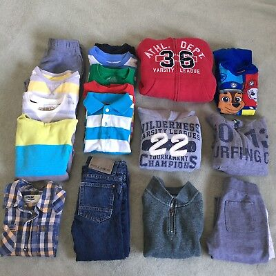 Boy Lot Of 18 Pieces. Winter, Fall Clothes 5t