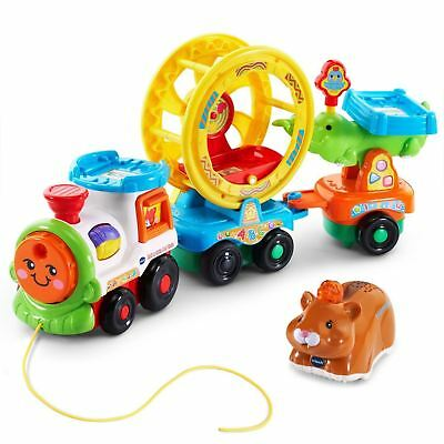 VTech Go! Go! Smart Animals Roll & Spin Pet Train 063618539980 Ages 1-5 35+ Song