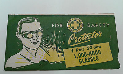Vintage PROTECTOR Brand - Pair of 50mm 1000-Hour Cover Glasses  - New Old Stock