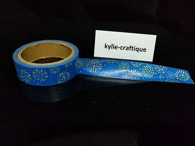Blue firework 1.5cm X 5m Washi Tape DIY Scrapbook Album Diary - b