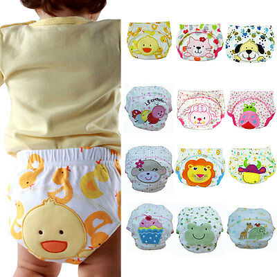 1pc Boy Baby Cute Diaper Pants Infant Toddler Underwear Training Cloth Hot