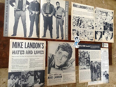 "Lot Vintage Clippings ~ MICHAEL LANDON ~ ""BONANZA"" ~ Little Joe Cartwright"