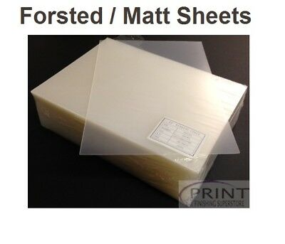 Frosted SemiClear Report Presentation PVC Covers for Comb Spine Binding A3 A4 A5