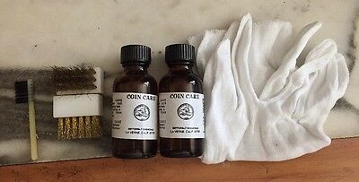 Coin Cleaning Kit- With Gloves