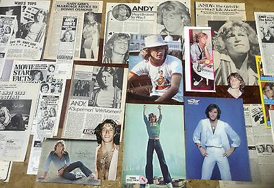 Lot Vintage Clippings / Pics ~ ANDY GIBB ~ Pin-Ups ~ The Bee Gees