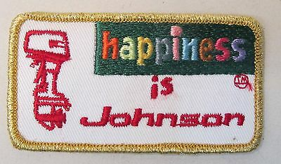 JOHNSON OUTBOARD MOTOR 1970's vintage embroidered cloth shirt or jacket patch