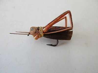 Rare Antique 1930's Palmer Grasshopper Real Legs Fly Fishing Lure - Mint