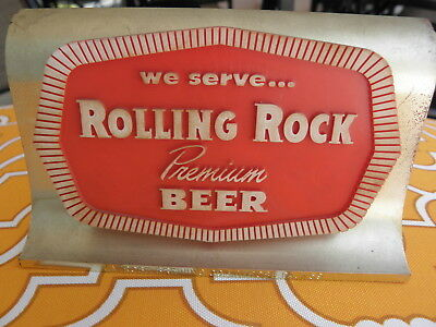 Rolling Rock Premium Beer Sign,  Plastic - Latrobe Brewing CO  Vintage
