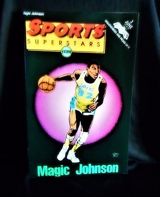 "NBA Superstars Magic Johnson"" #3 Comic Book (1992, Revolutionary)"