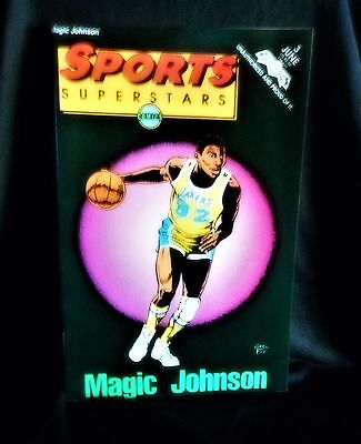"NBA""Sports Superstars Magic Johnson"" #3 Comic Book (1992, Revolutionary)"