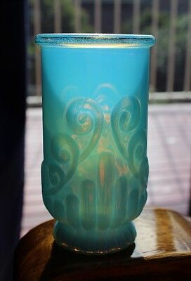 Retro AVON Beautiful PEARLINE BLUE Glass Vase