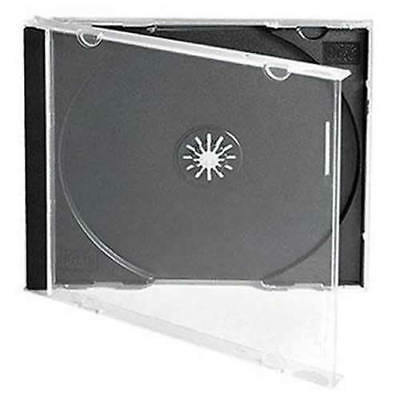 CD Jewel Cases Single Dual Triple Sextuple Discs Clear Black Tray Standard Size