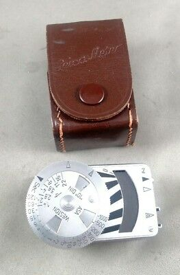 Leica METRAPHOT Leica-Meter Germany Chrome Light Meter 29 with Case