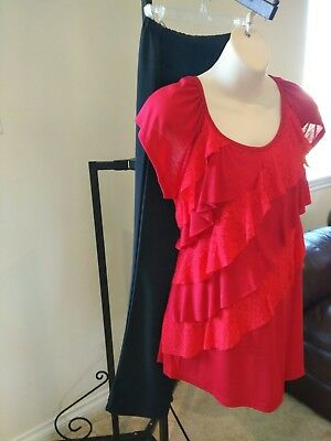 NEW Maternity clothing outfit career size Large XL red black Tatiana's Maternity