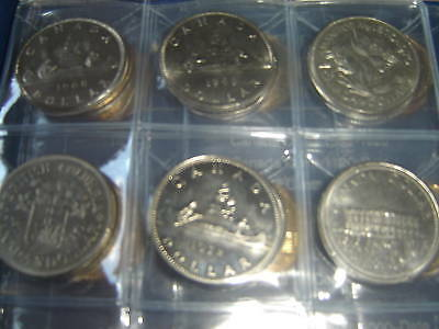 Complete Set of Canada Dollars Coins (1968-2012) 46 Coins